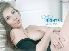 Connie Carter in Lonely Nights Video
