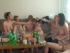 Dana & Janet Haven & Kristine Crystalis & Sonja in orgy movie featuring lots of voluptuous vixens