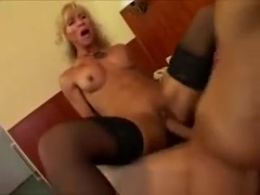 Mature Fitness Hottie Savagely Fucked By Younger Hung Man