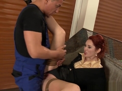 Redheaded Slut Pissed On