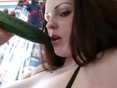 Dutch Teen Enjoying her Veggies