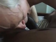 Grandpa foot fetish and dark cock