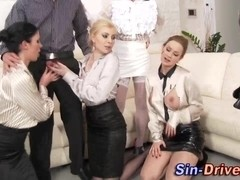 Glam sluts fuck and fight each other