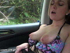 Kate England in On One Of Your Stops Kate Sucks Your Cock In The Car - ATKGirlfriends