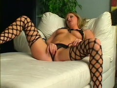 His dick finds its way into her pierced pussy and tight ass POV style