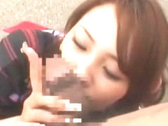 Fabulous Japanese slut Emi Haruna, Ruru Yuki in Best Blowjob, Public JAV video