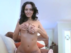 Lovely busty French experienced woman Ava Addams is sucking cock