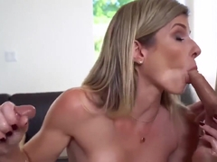 Blonde Flight Attendant Blowjob Cory Chase Finds A Mess In H