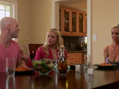 Abbey Brooks is a horny little mommy who spends her free time with Johnny Sins