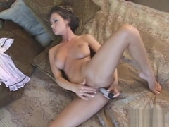 Crissy Moran teasing, sniffing, licking her HOT pink panties