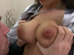 Kortney Kane shows big tits and passion at work