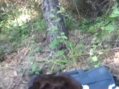 Swedish girl sucks and get fucked in the woods