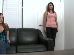 Jean Taylor and Natalie Nunez prepare to be new pornstars, to suck and to fuck.