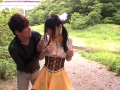 short asian Mihono Sakaguchi humping in a car