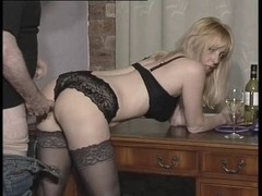 British floozy receives receives drilled all over the abode