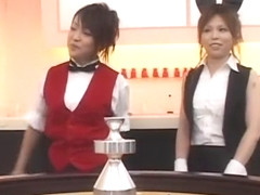 Crazy Japanese whore in Hottest Threesomes, Blowjob/Fera JAV movie