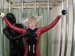 Japanes latex catsuit 5