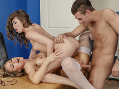 Nicole Aniston & Riley Reid & Xander Corvus in Porn Logic 2 - BrazzersNetwork