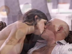 OLD4K. Hot old and young fucking scene ends with cumshot in mouth