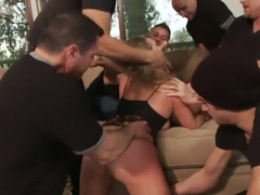 Slutty Step-Sisters get Gangbanged by 8 Men!!