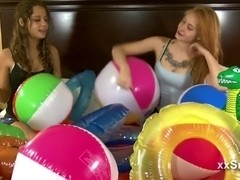 Two girls Ride and Deflate