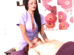 Pornstar Jamie Valentine edging massage sub