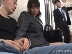 Insatiable Japanese milf Hana Haruna in amazing group action
