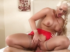 Holly Heart - Hot Blonde Gets Her Hands On Cock
