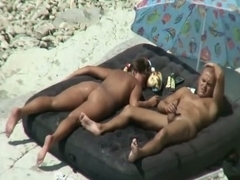 Oiled concupiscent chick sunbathing