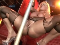 Stripper Harmony Flame get naked and wet