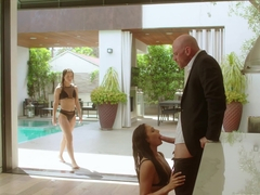 VIXEN Two Naughty College Students Sneak Into A Pool and Fuck A Huge Cock
