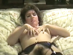 Fucking My Hot, Sexy, Stocking Wearing, Brunette, Hairy Pussy Wife