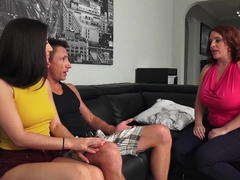 SEXYMOMMA - Busty MILF in a threesome with her stepdaughter