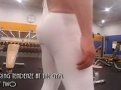 At the gym in Tendenze spandex Pt two