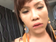 LadyboyGold Movie: Horny Denim Skirt Swallow