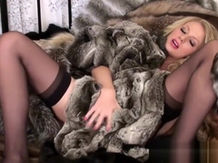Danielle Maye in fur -1
