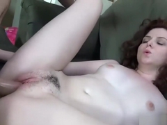 Emma Evins has her tight pussy penetrated