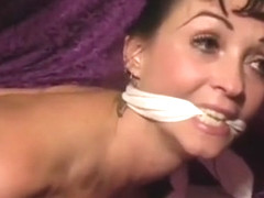 Summer C nude tied and gagged in her bedroom
