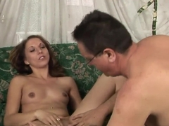 Teen Joanna Sweet is fucked hard by rich daddy