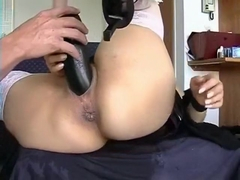 extreme anal toying fingering and fucking