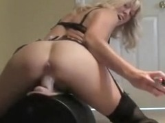 Riding her sybian