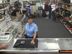 Bootyful latina security guard fucked by the Pawnshop owner