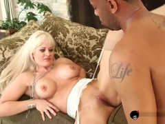 Busty Holly Heart gets pussy pounded in rough interracial