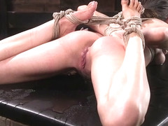 Melissa Moore  The Pope in All Natural Bondage Slut Endures Torment And Suffering With Squirting O.