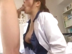 Horny Japanese girl Azusa Maki in Incredible Medical, Facial JAV movie