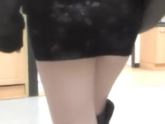 Wife shows a butt plug in public