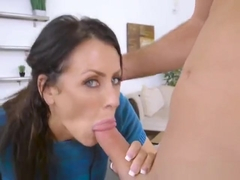 Naughty Cougar Reagan Foxx Blows Hung Delivery Guy