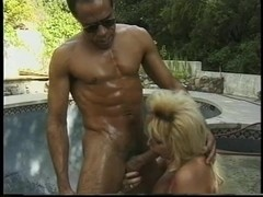 A sexy blonde bitch with a wonderful thick body and billibongs acquires group-screwed by the jacuz.