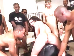 Jennifer White Interracial Gangbang