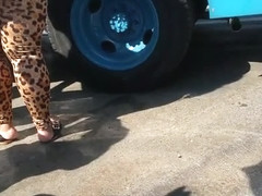 Candid Thick Leopard Spandex Part 1